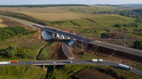 Еще 30 км трассы М-7 «Волга» в Татарстане стали четырехполосными