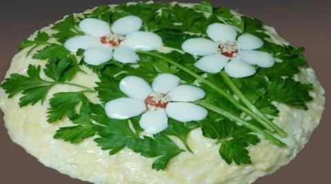 Салат «Три цветка»