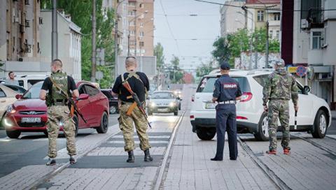 В центре Донецка сработала с…