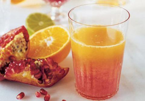 Летний напиток: Цитрусовый фреш с гранатовым соком