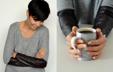 Модная переделка: кожаные рукава