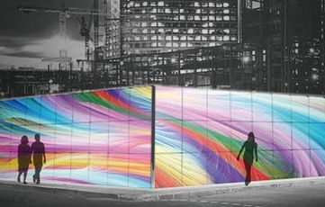 Вместо рекламы заборы вокруг строек украсят репродукции картин