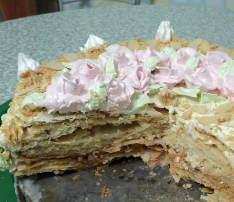 Торт шоколадно заварной