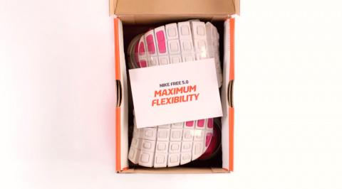 Nike экономит на коробках
