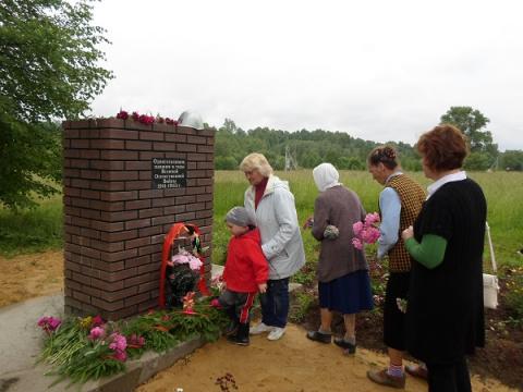 Открытие памятника в селе Кандаурово