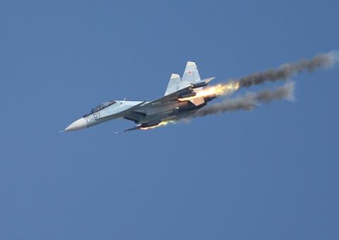 Су-30СМ точным попаданием ут…