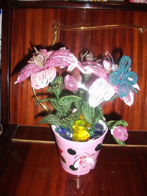 Мои бисерные цветочки(хвастик).