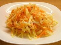 Постный салат из сельдерея и моркови - видео рецепт