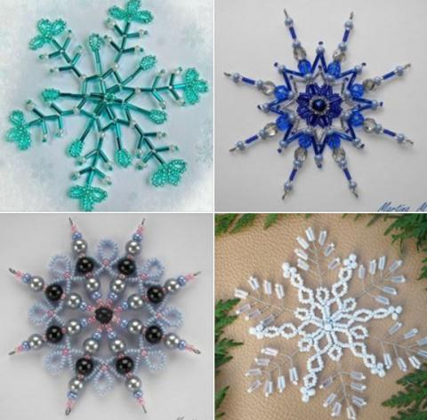 Снежинки из бисера: идеи для…