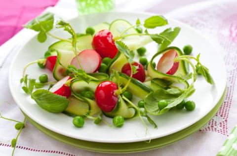 Весенние салаты из редиса