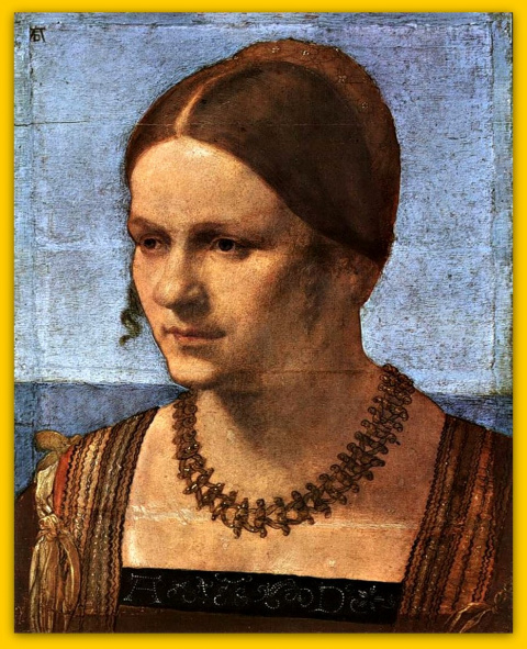 Портрет молодой женщины.1506 год.