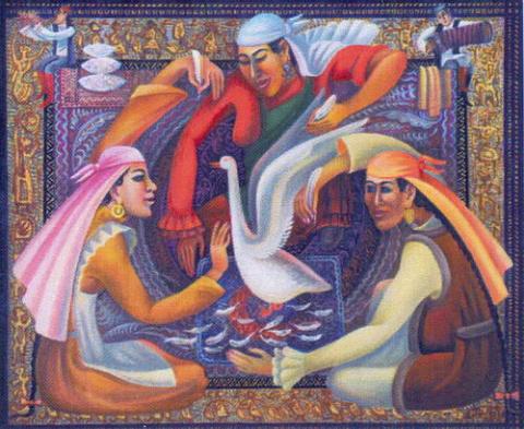 Казахский художник Абылхан Кастеев