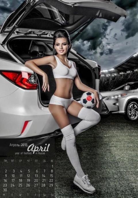 Календарь ТТС: машины, девушки и футбол