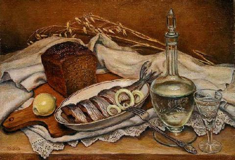 Русская водка, черный хлеб, …