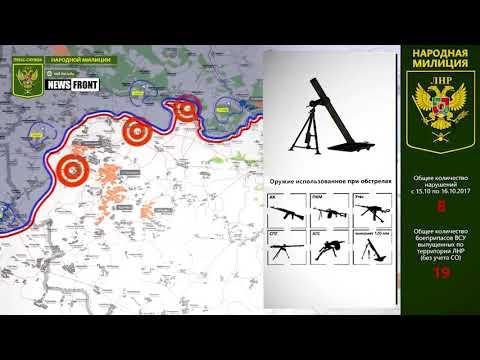 Карта обстрелов за текущие сутки от  НМ ЛНР