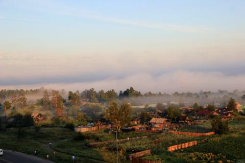 Туман над речкой