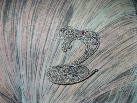 змейское царство (батик и веревочная филигрань)