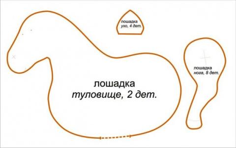 Романтическая лошадка тильда (Символ 2014 года). М.К.