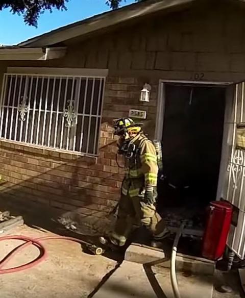 Пожар едва не унес жизнь мал…