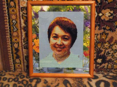 Вышивка на день рождения  - портрет именинницы