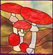 Эскизы для витражной росписи