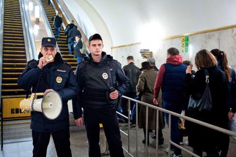 В московском метро по ошибке…
