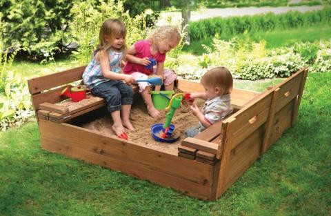 Песочница для детей на дачу:…