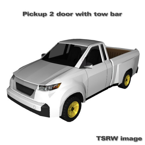 Pickup 2 door with tow bar by Carlos
