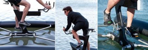 По воде на велосипеде как по суше