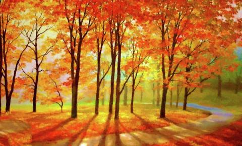 Осенние пейзажи. Американская художница Edna Wallen