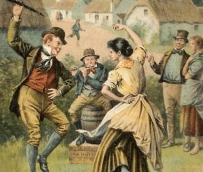 Старинный французский танец Бурре