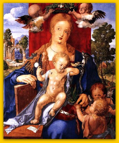Мадонна с чижом.1506.