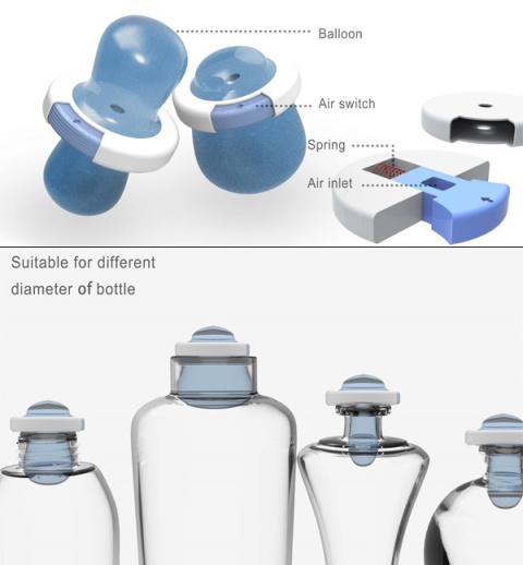Воздушный шарик закрывает горлышко бутылки