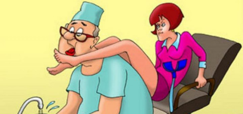 Привел жену к гинекологу …