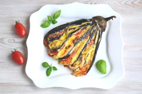 """Необыкновенно вкусная и оригинальная закуска из баклажан """"Веер"""""""