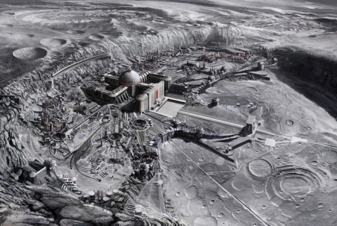 Древнейшие постройки на Луне…