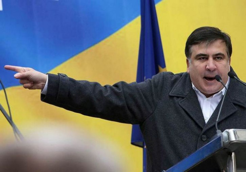 Краткий «спич» Саакашвили с «МихоМайдана»