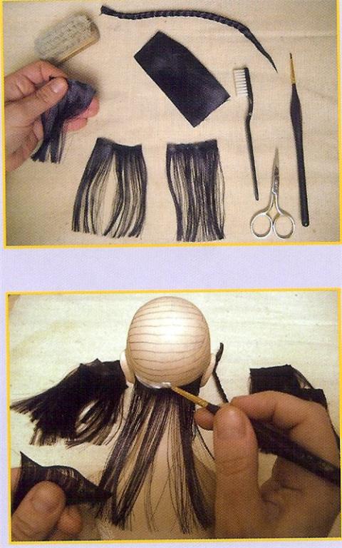 Волосы для кукол из атласных лент