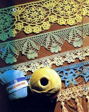 Подборка красивых схем для вязания каймы крючком
