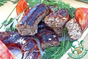 Свиная колбаса с гречневой крупой