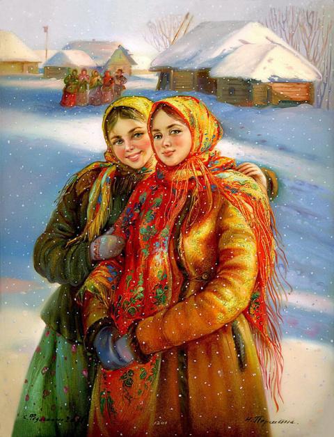 Старая Русь в Федоскинских миниатюрах