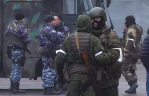 Вцентре Луганска замечена б…