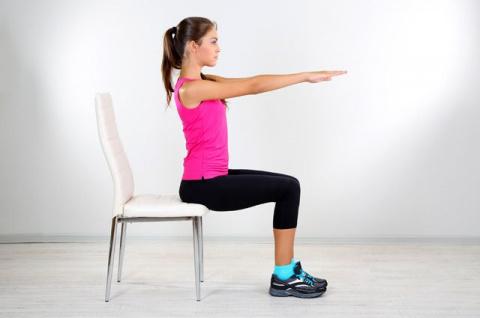 Тренировка со стулом. Гимнас…