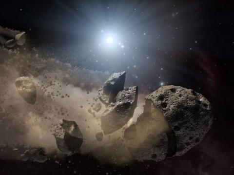 Ракетный удар по астероиду