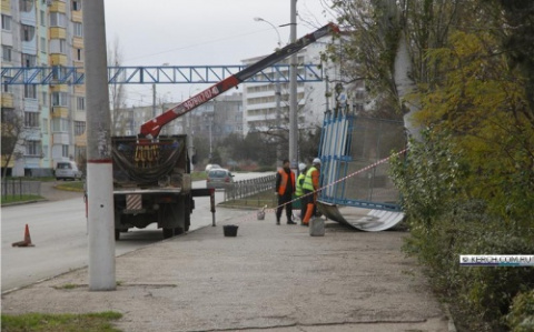 В Керчи демонтируют остановк…