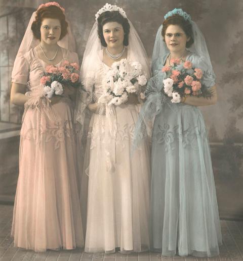 История моды: свадебные платья 40-х