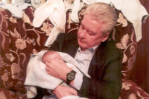 Собянин показал внука Серегу