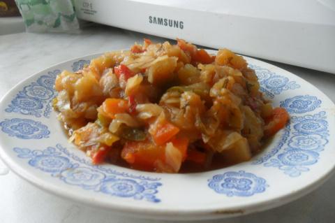 Овощное рагу (без мяса) в мультиварке