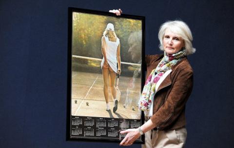 История одной фотографии: Теннисистка