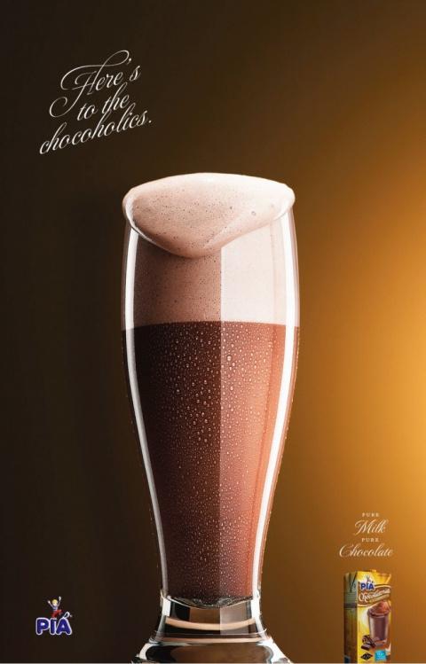 Молоко и шоколад вместо коньяка